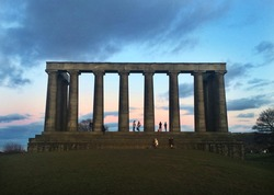 Sundown at Calton Hill